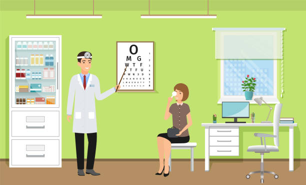Best Eye Doctor Illustrations, Royalty-Free Vector ...
