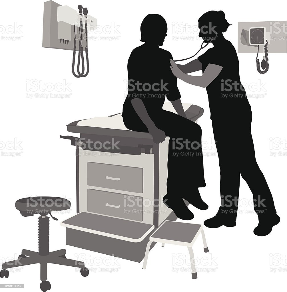 Doctor's Office Vector Silhouette royalty-free stock vector art