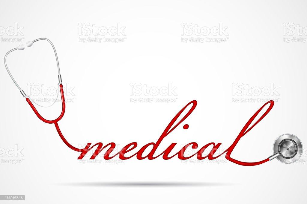 Doctor's Stethoscope vector art illustration
