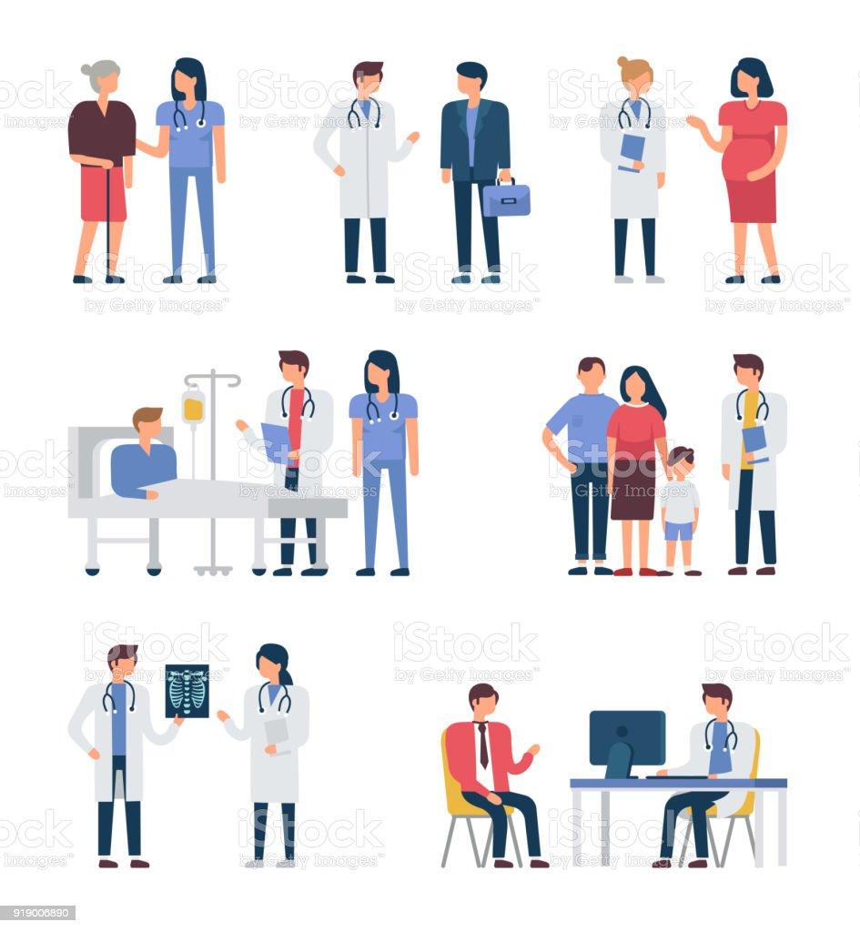 Les médecins - Illustration vectorielle