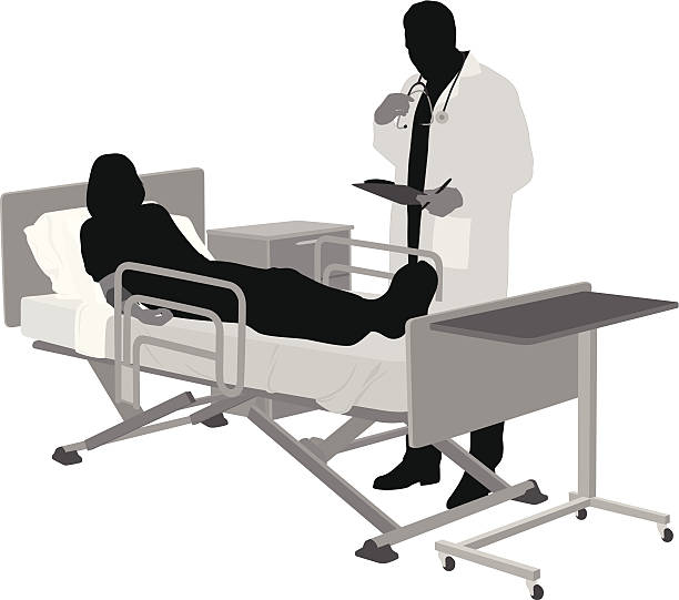 Image result for silhouette of woman on hospital bed