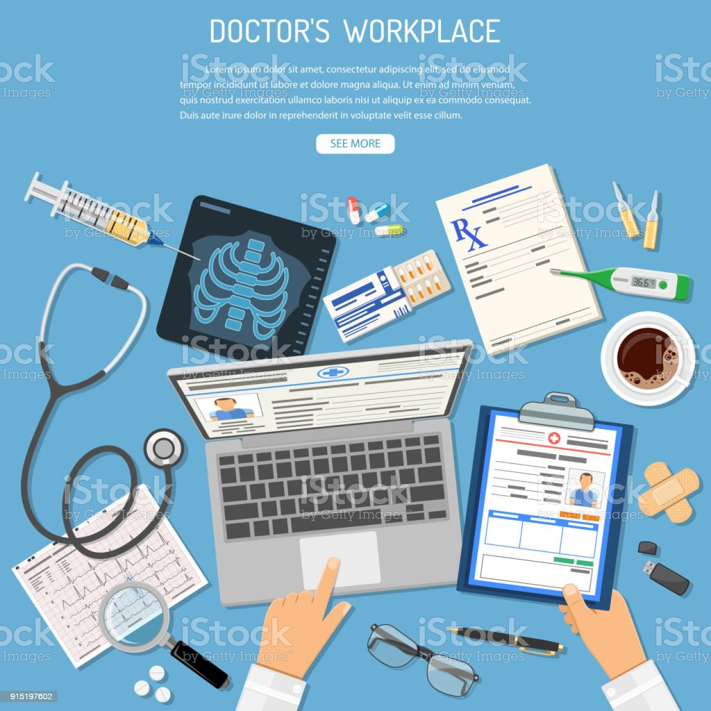 best electronic medical record illustrations  royalty