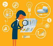 istock Document Analysis  - Businesswoman 1207234465