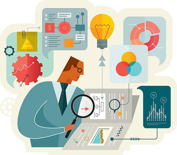dokument-analyse - kontrolle stock-grafiken, -clipart, -cartoons und -symbole