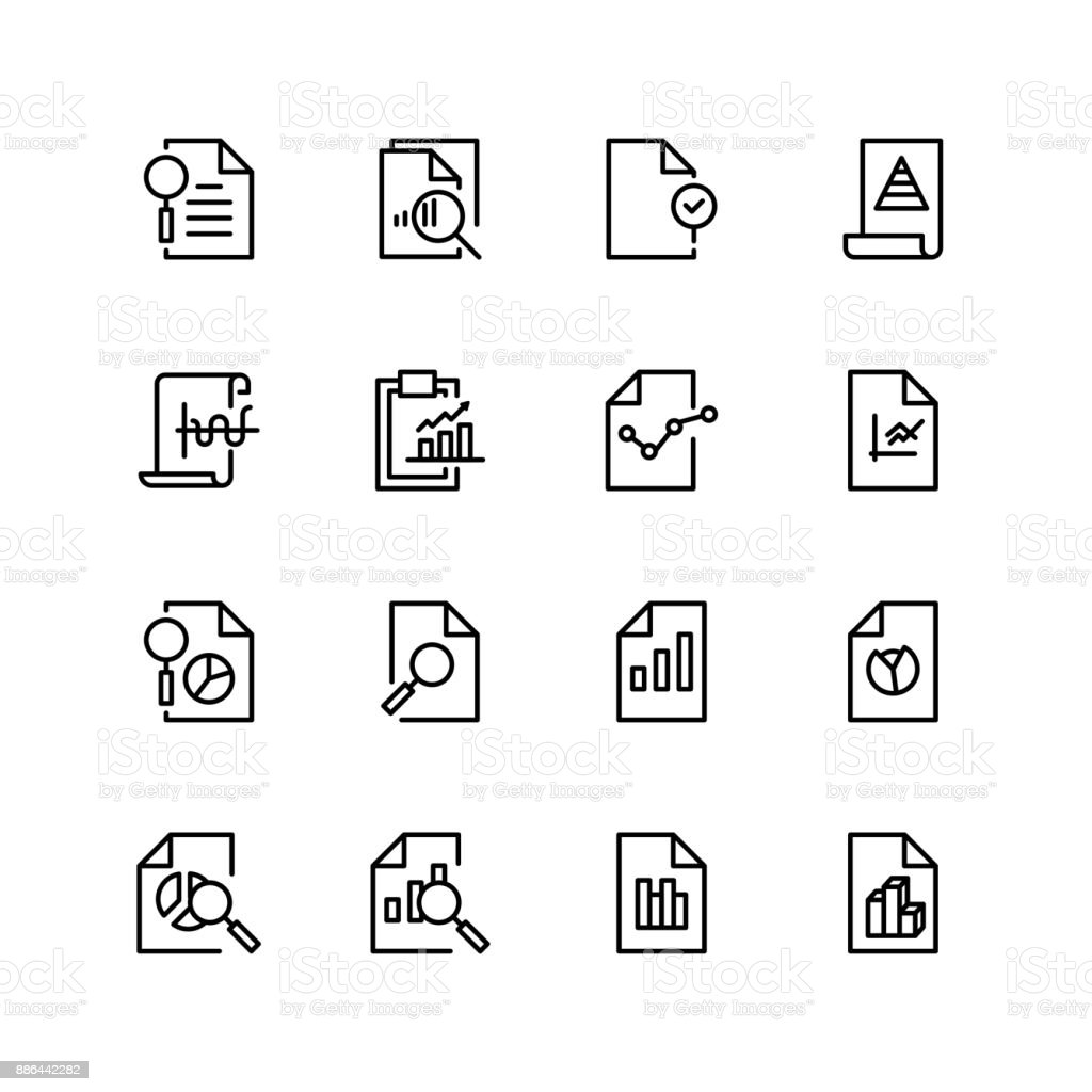 Document analytic icon vector art illustration