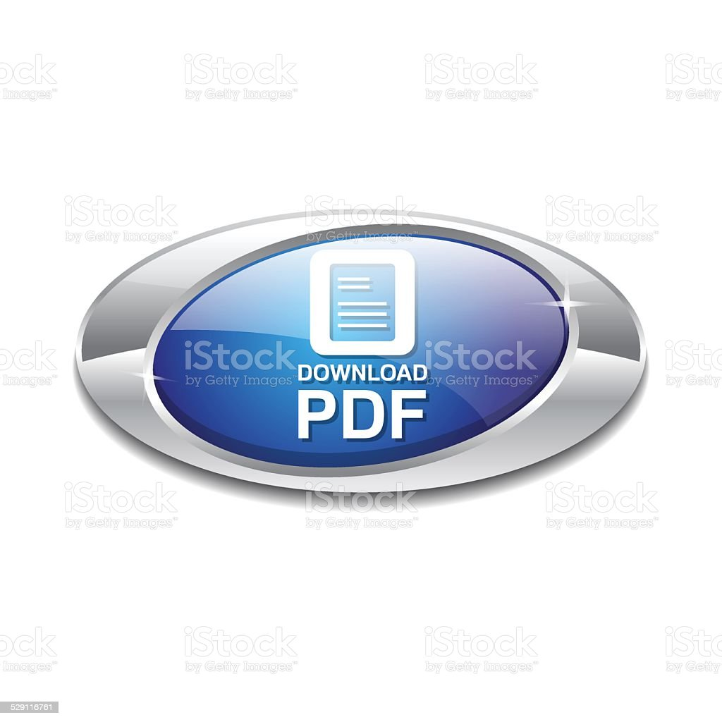 Pdf Document Blue Vector Icon Button Stock Illustration