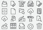 Document Business Line Icons