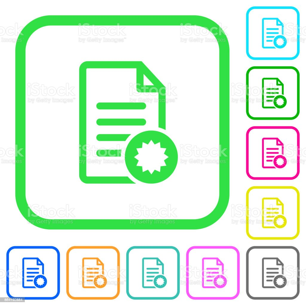Document certificate vivid colored flat icons icons royalty-free document certificate vivid colored flat icons icons stock vector art & more images of certificate