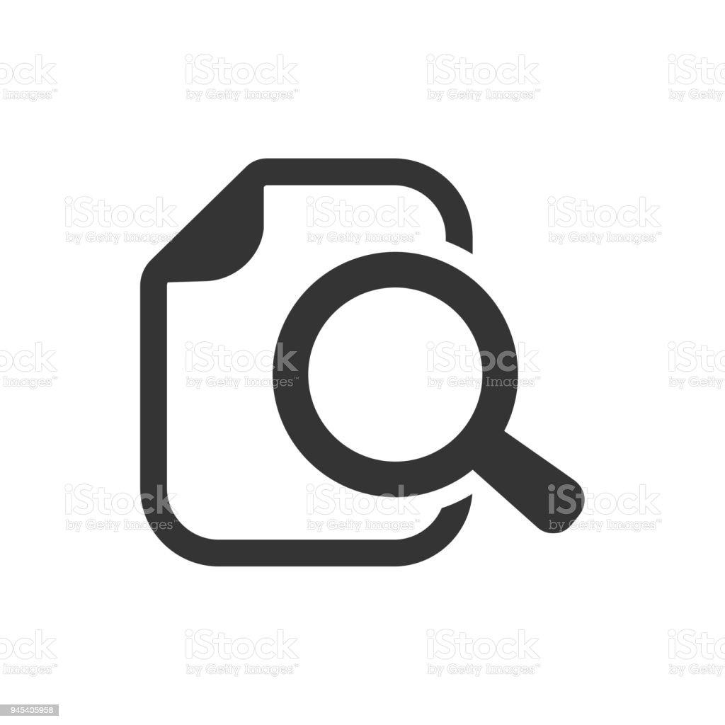 875954db754eb Ilustración de Documento Explorar Archivos Buscar Icono De Búsqueda ...
