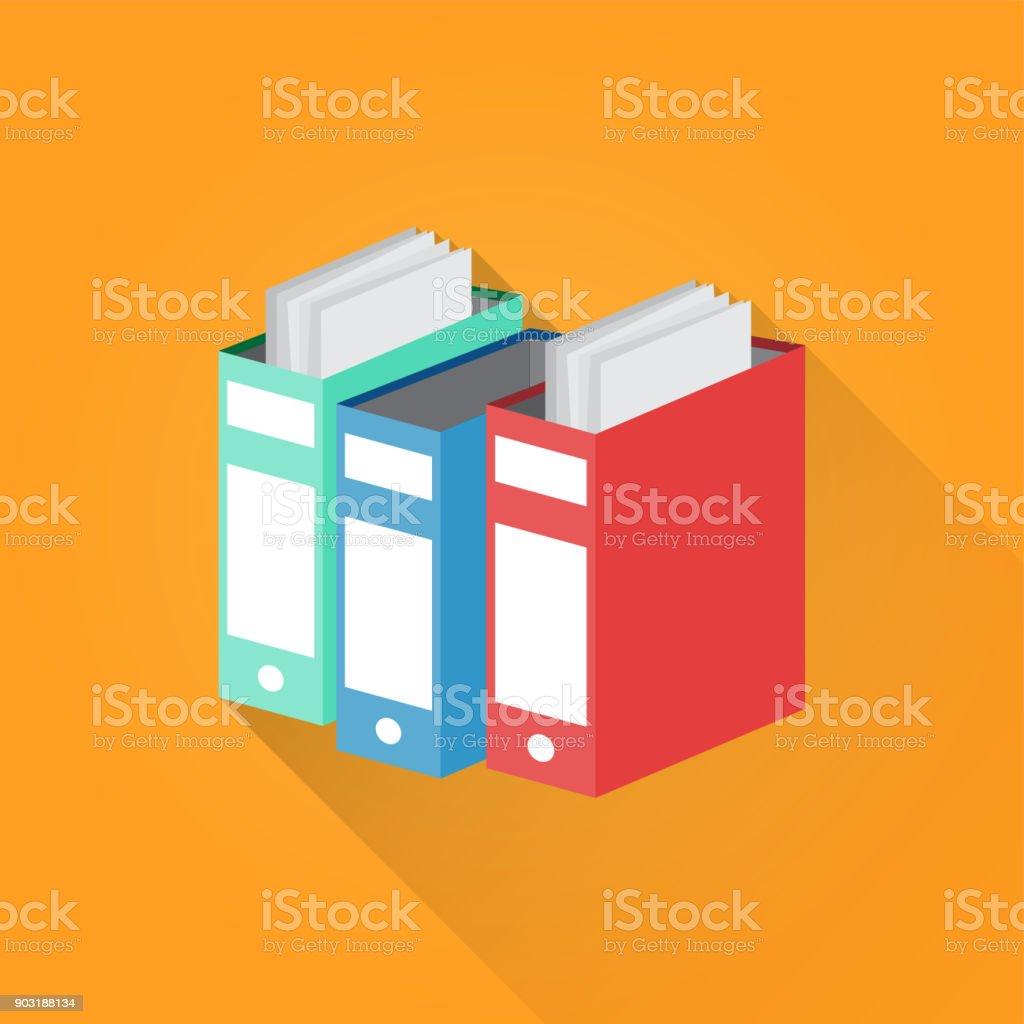 Document File Flat Icon vector art illustration