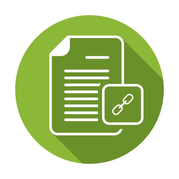 Document file hyperlink internet link page weblink icon. Vector icon vector art illustration
