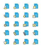 Document & File icon, Monochrome color - Vector Illustration