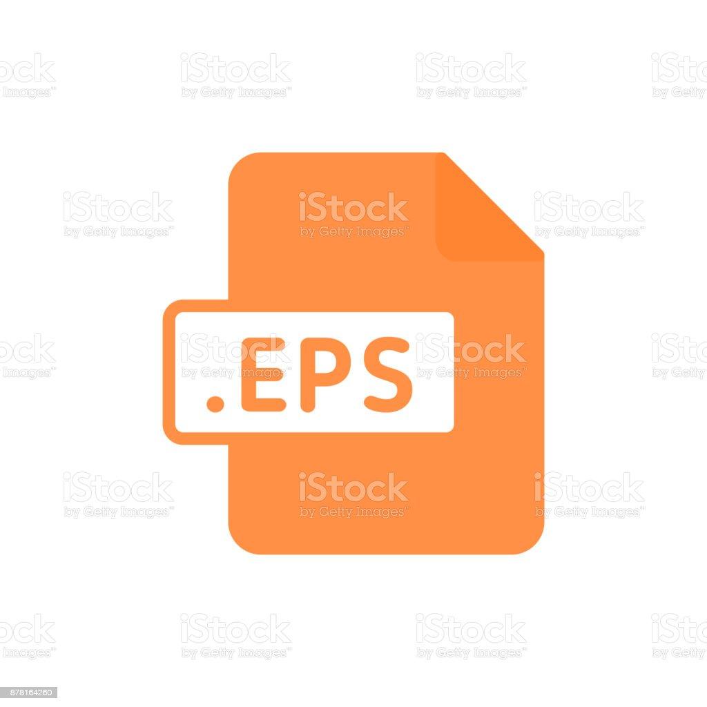 Document file type flat EPS vector art illustration