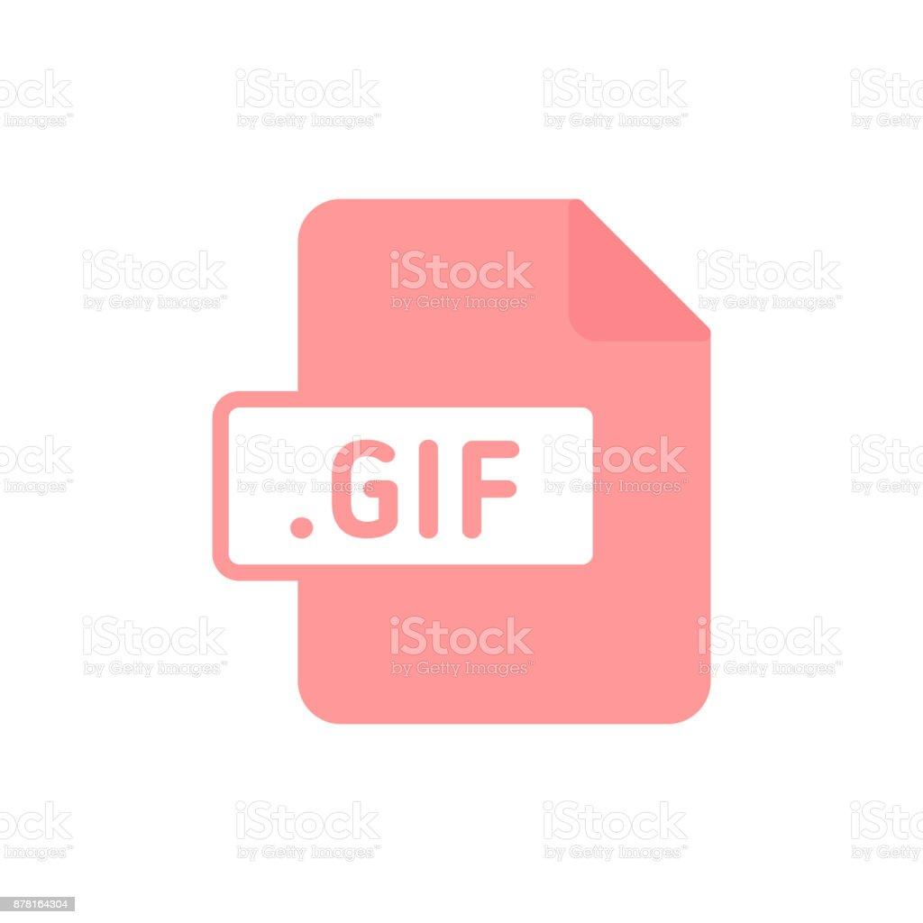 Document file type flat GIF vector art illustration