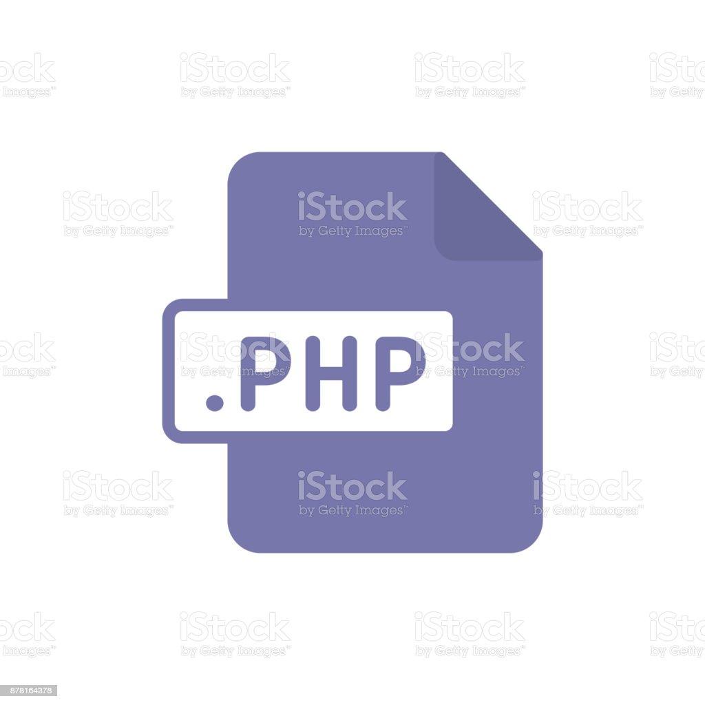 Document file type flat PHP vector art illustration