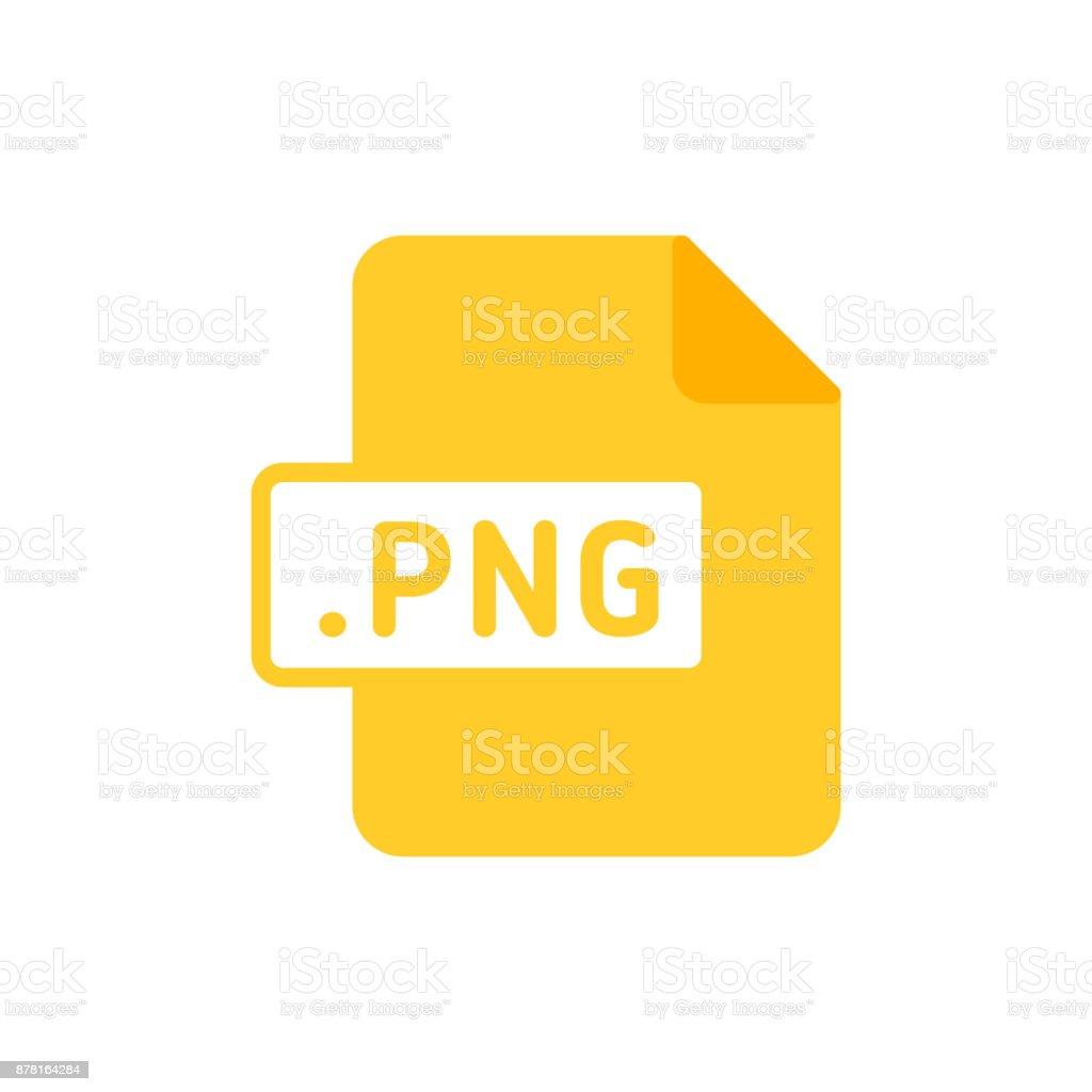 Document file type flat PNG vector art illustration