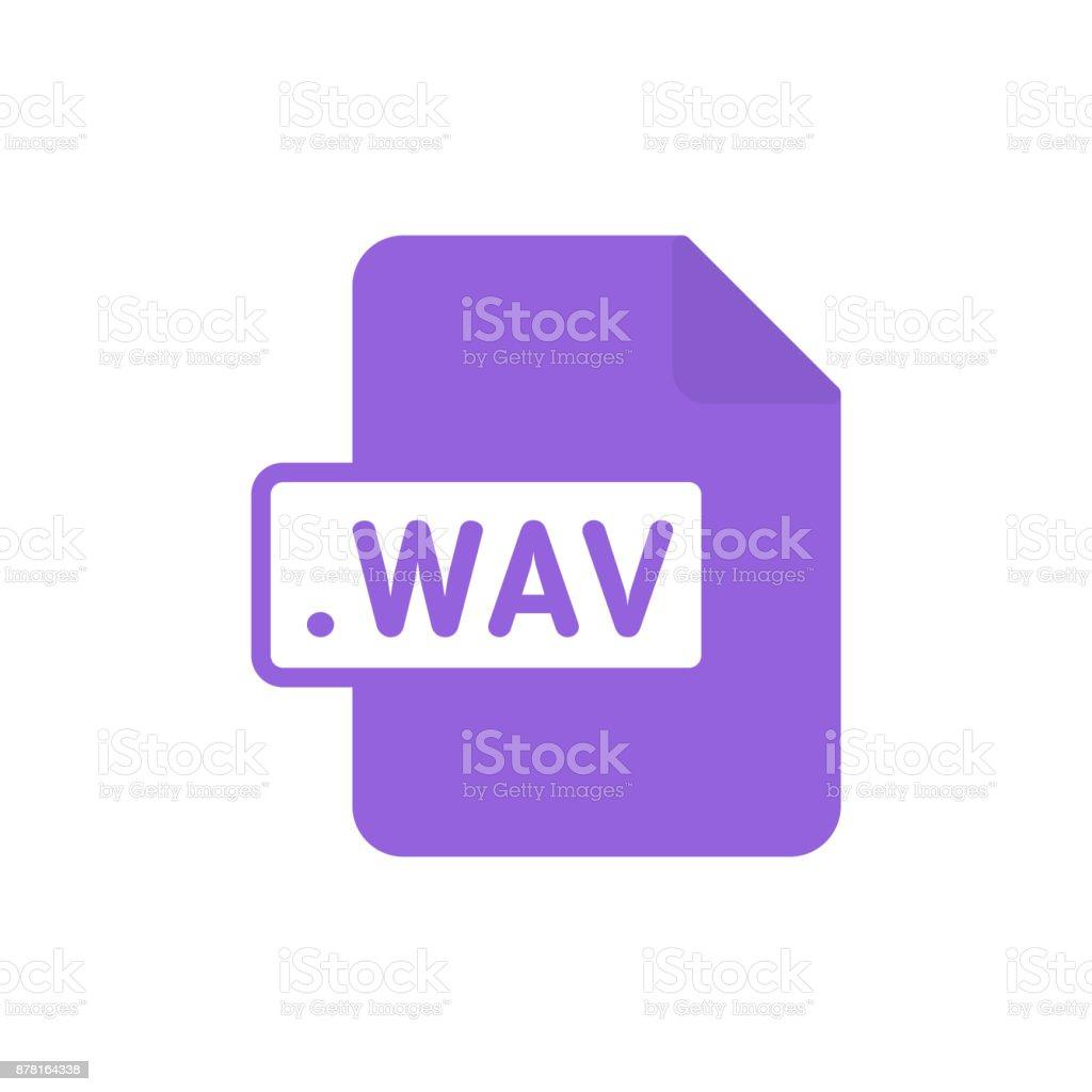 Document file type flat WAV vector art illustration