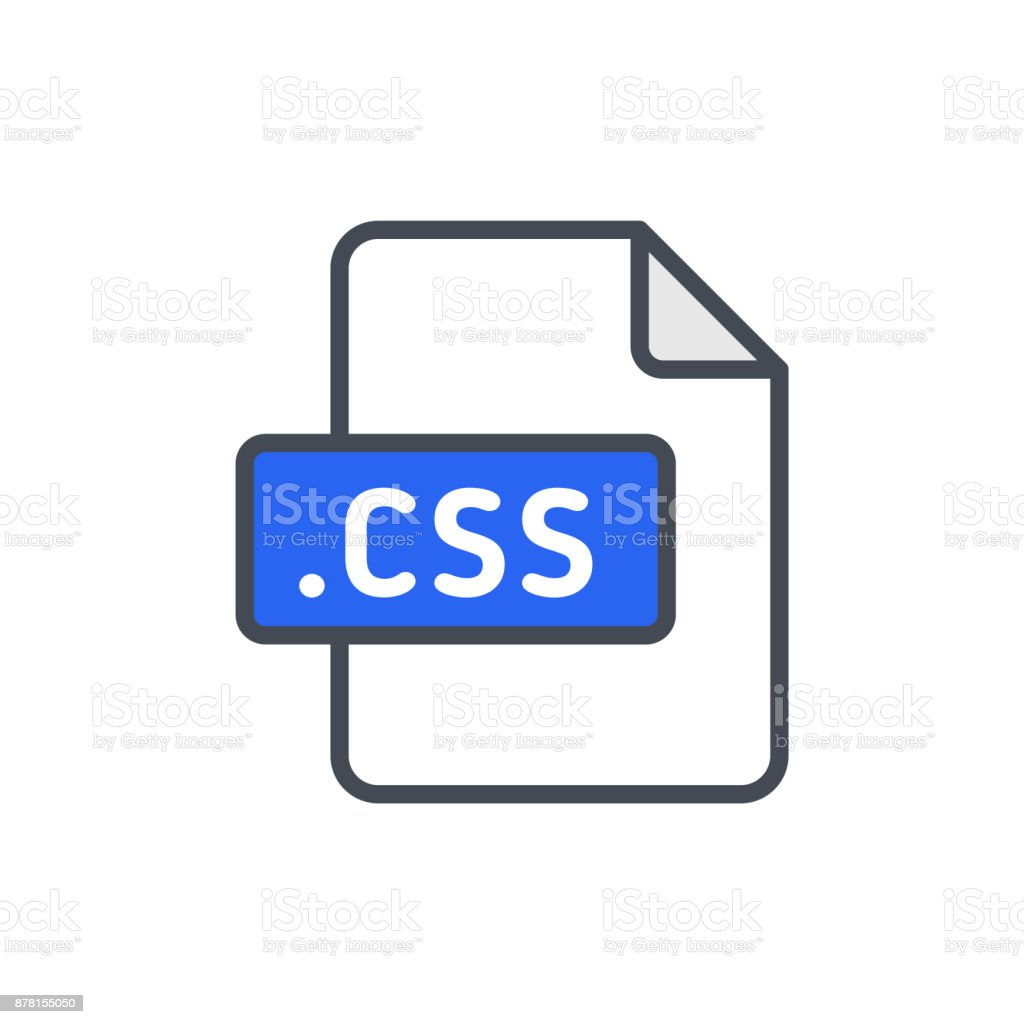 Document files colored icon css vector art illustration