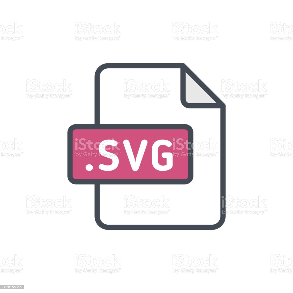 Document Files Colored Icon Svg Stock Illustration