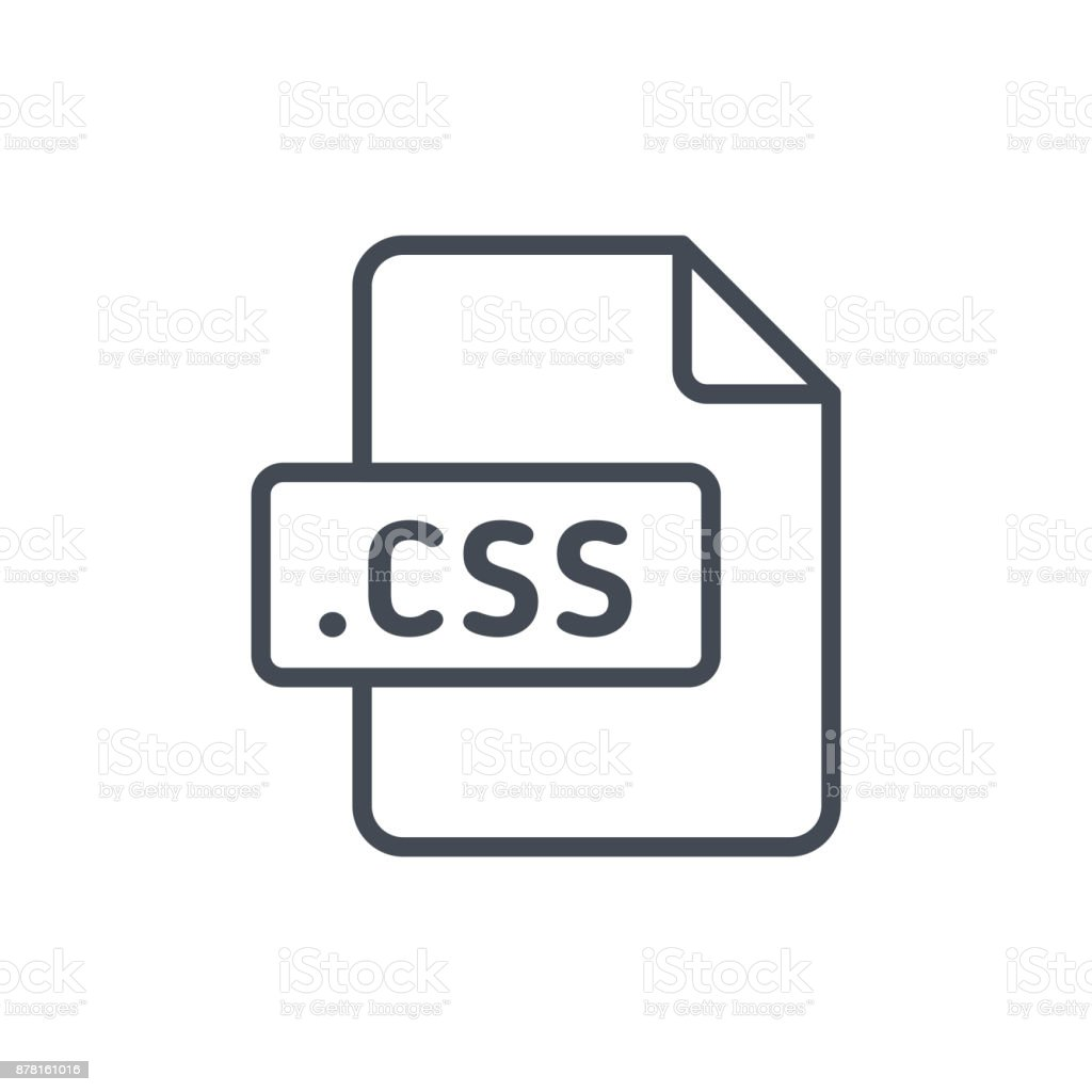 Document Files line vector CSS vector art illustration