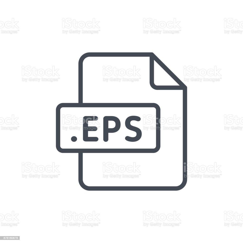 Document Files line vector EPS vector art illustration