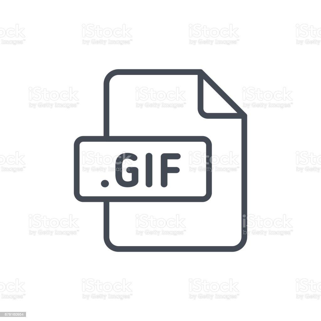 Document Files line vector GIF vector art illustration