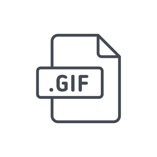 문서 파일 선 벡터 gif - gif stock illustrations