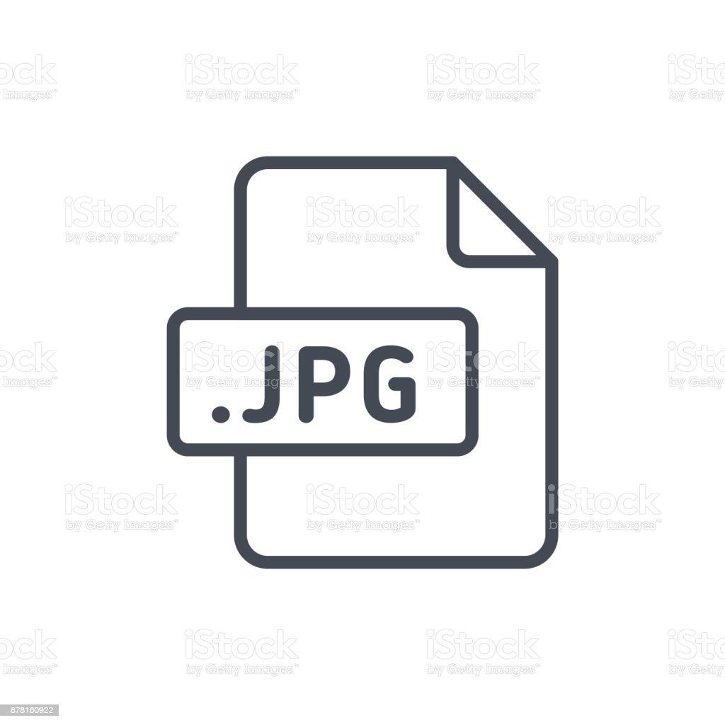 Document Files line vector JPG vector art illustration