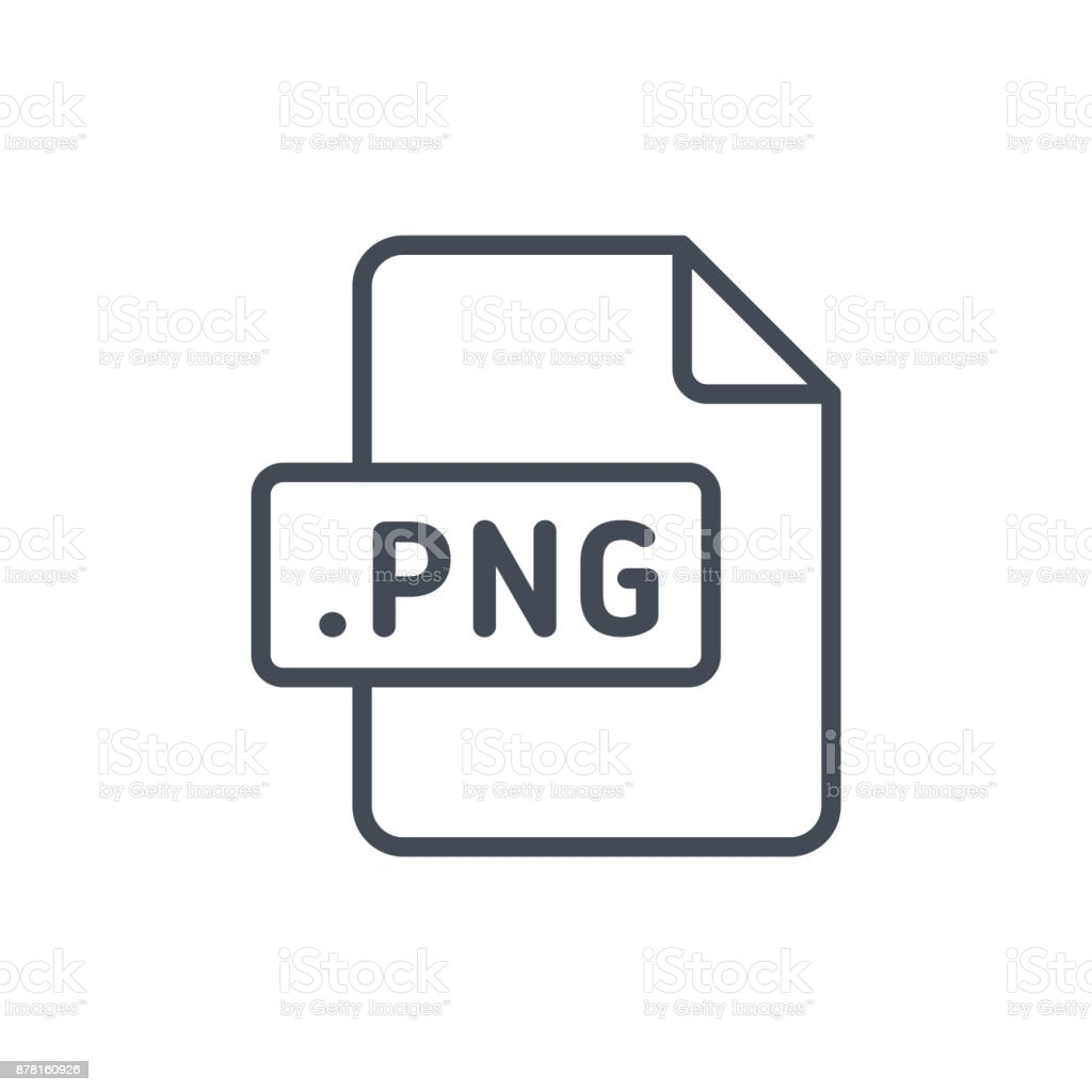 Document Files line vector PNG vector art illustration