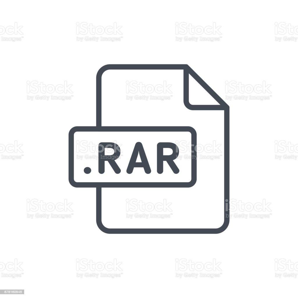 Document Files line vector RAR vector art illustration
