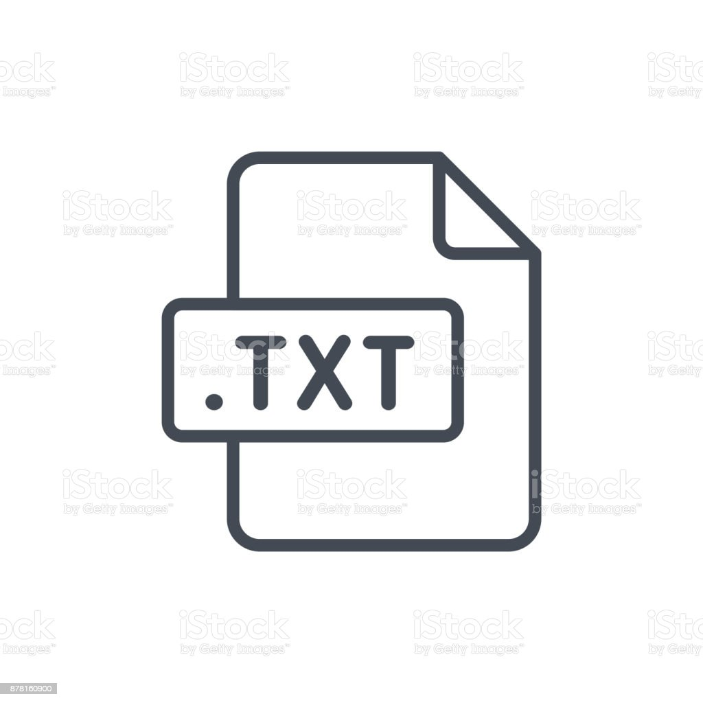Document Files line vector TXT vector art illustration