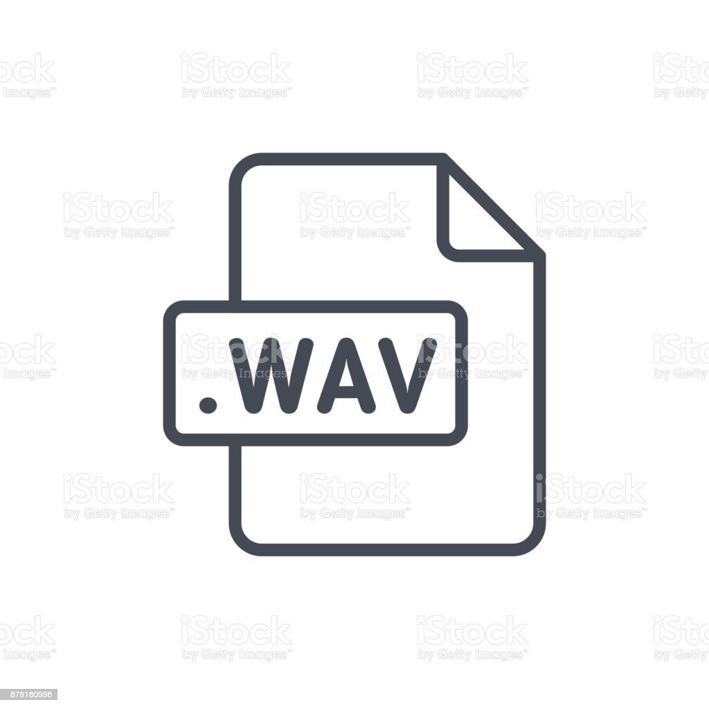 Document Files line vector WAV vector art illustration