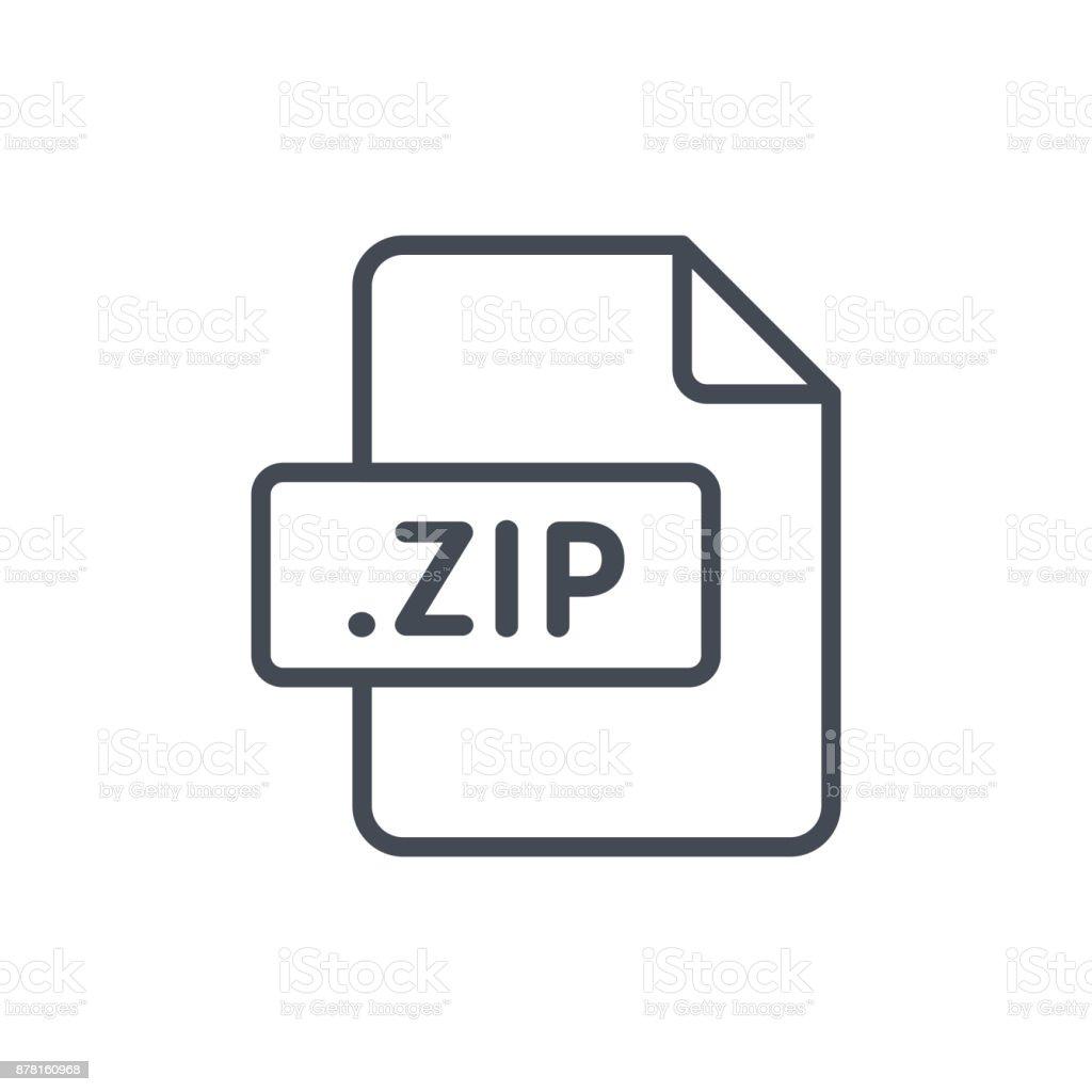 Document Files line vector ZIP vector art illustration