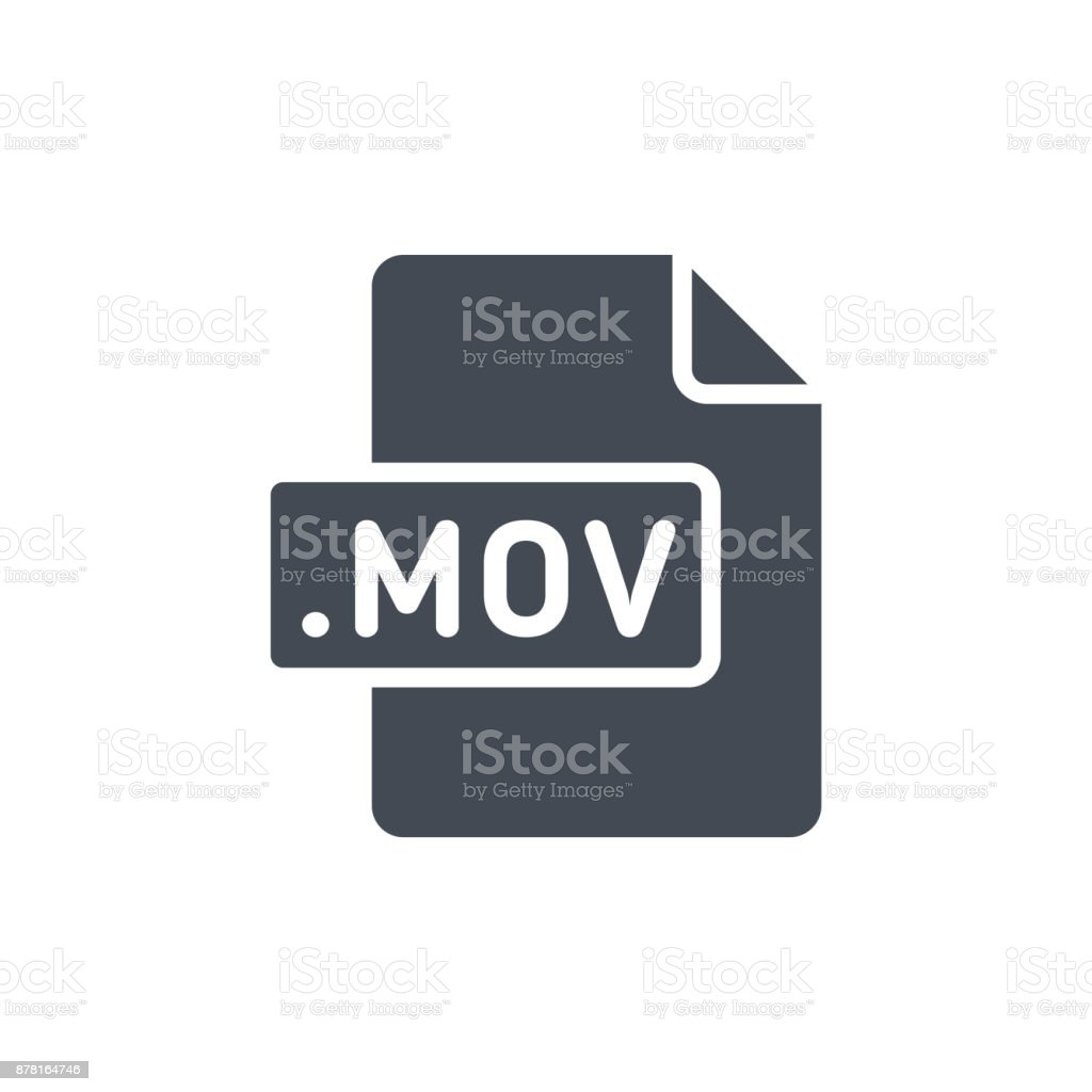 Document Files silhouette icon MOV vector art illustration
