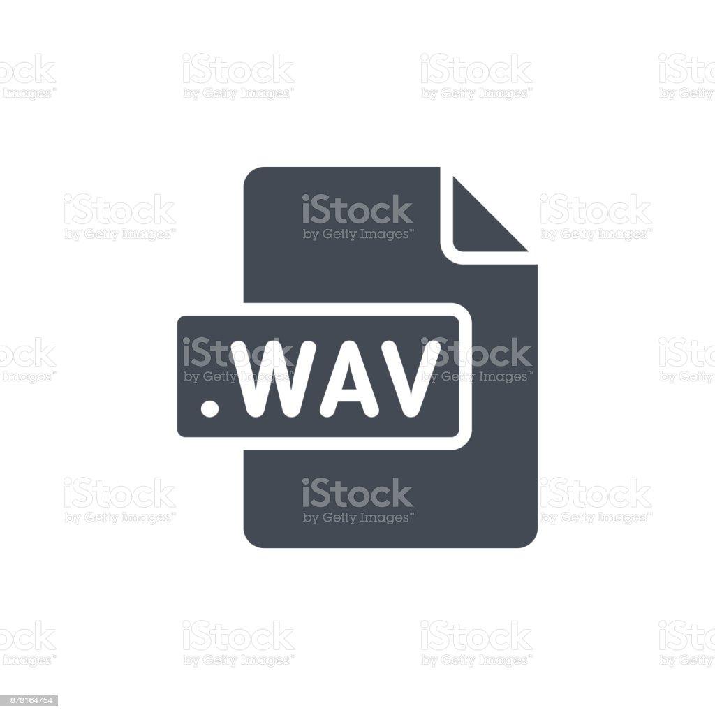Document Files silhouette icon WAV vector art illustration