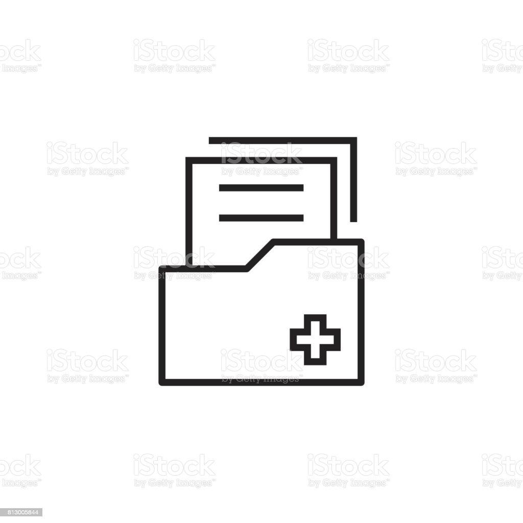Icono de vector plano del documento. Ilustración de símbolo de archivo de datos de archivo. - ilustración de arte vectorial