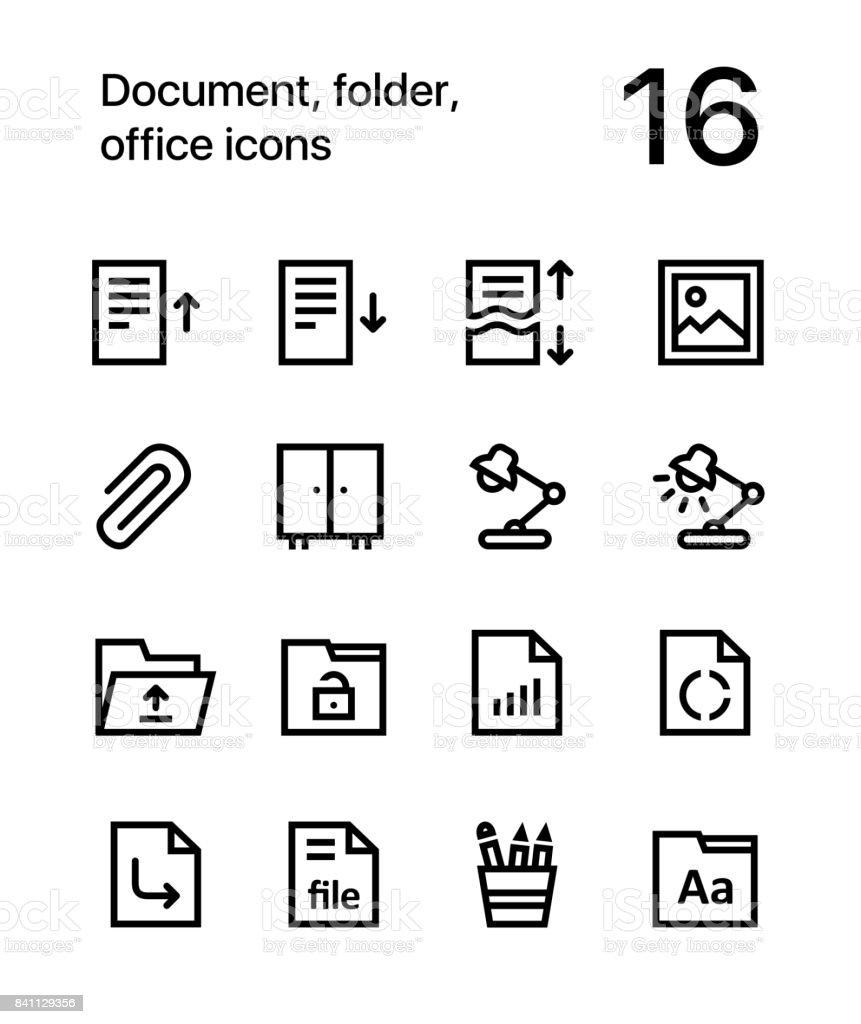 Dokument Ordner Officesymbole Fur Web Und Mobile Design Service Pack