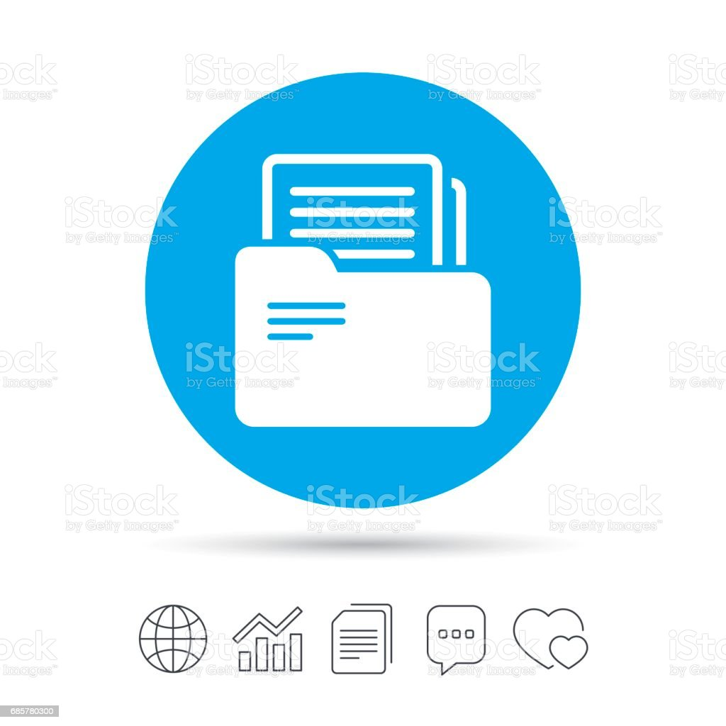 Document folder sign. Accounting binder symbol. royalty-free document folder sign accounting binder symbol stock vector art & more images of accountancy