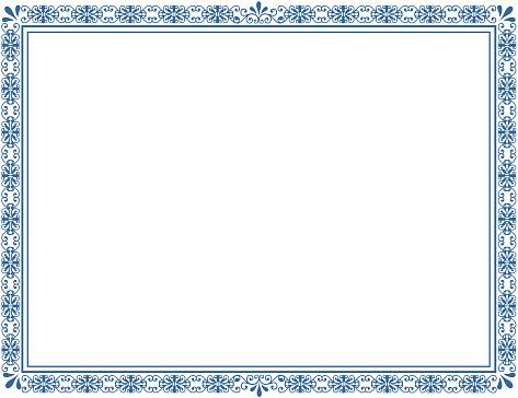 Document frame cyan blue