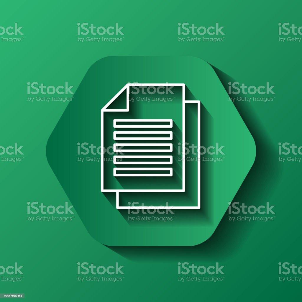 het symbool van het document. Media design over zeshoek. Vectorafbeelding royalty free het symbool van het document media design over zeshoek vectorafbeelding stockvectorkunst en meer beelden van advies