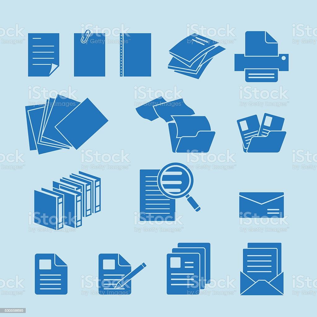 Document icon set vector art illustration