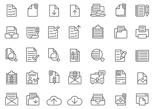 Document icon set