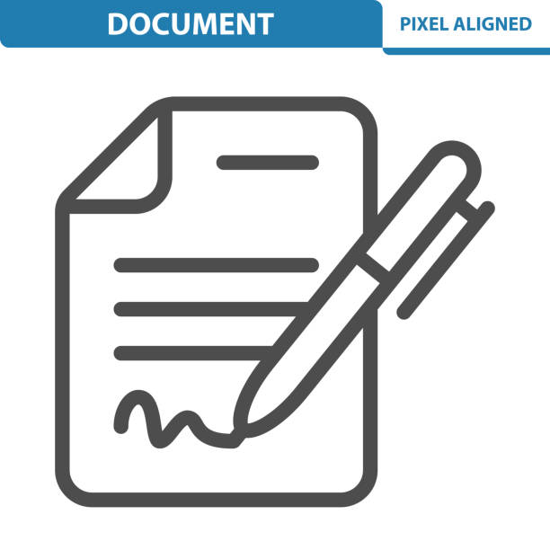 Document Icon Professional, pixel perfect icon, EPS 10 format. signature stock illustrations
