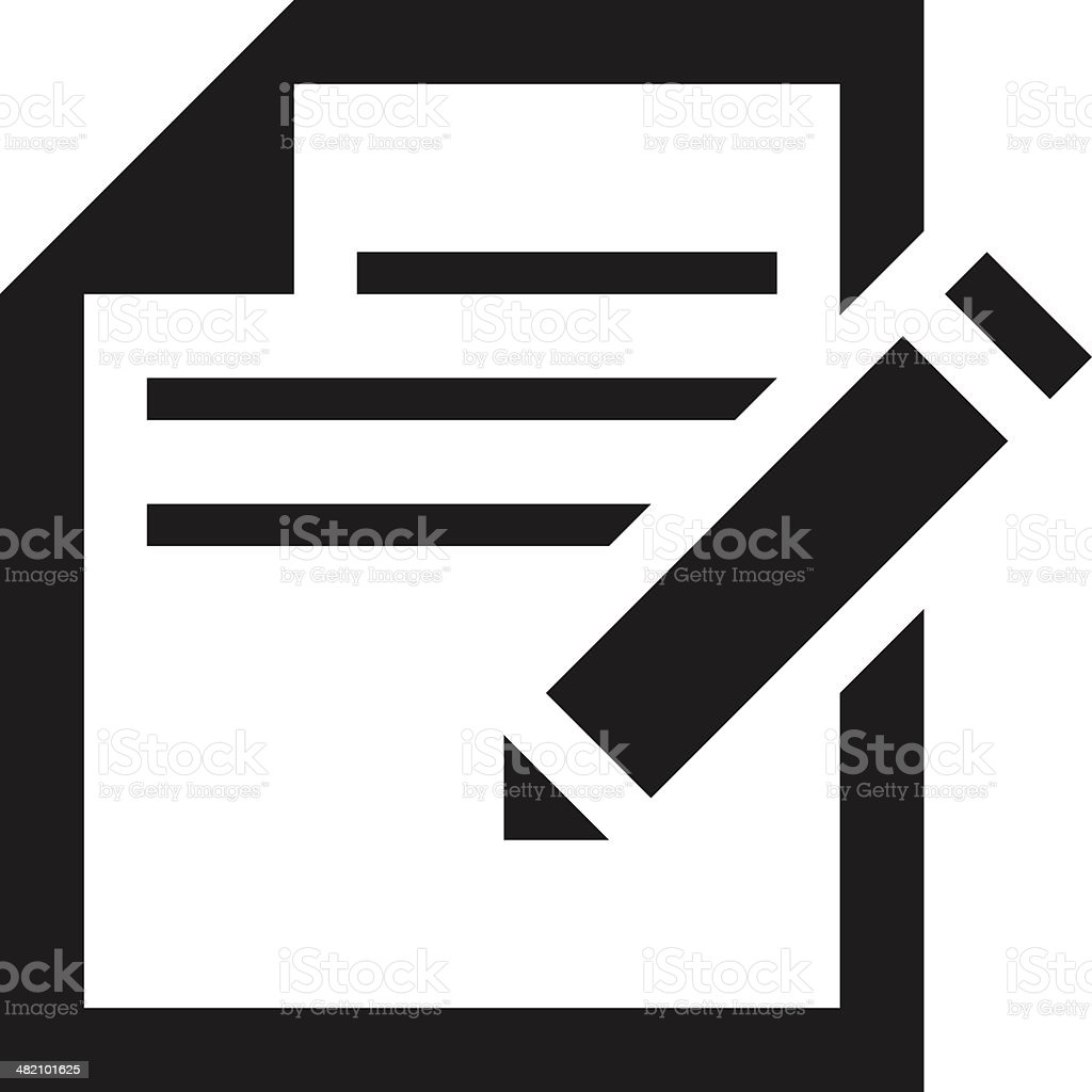 Document icon royalty-free stock vector art