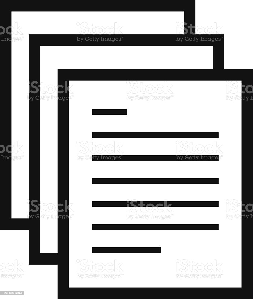 Document icon vector art illustration