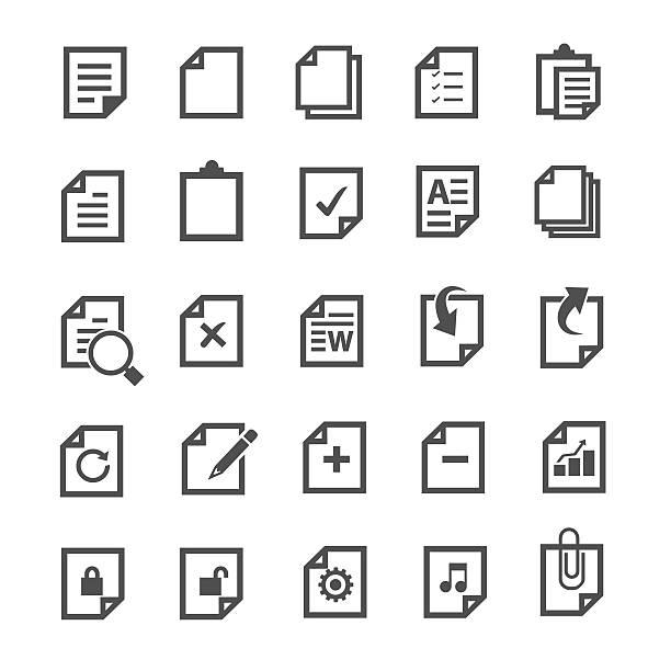 document icon - ring binder stock illustrations