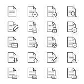 Document Icons Line