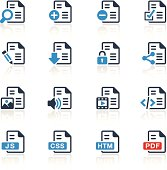 Document Icons Two Colors | Pro Series