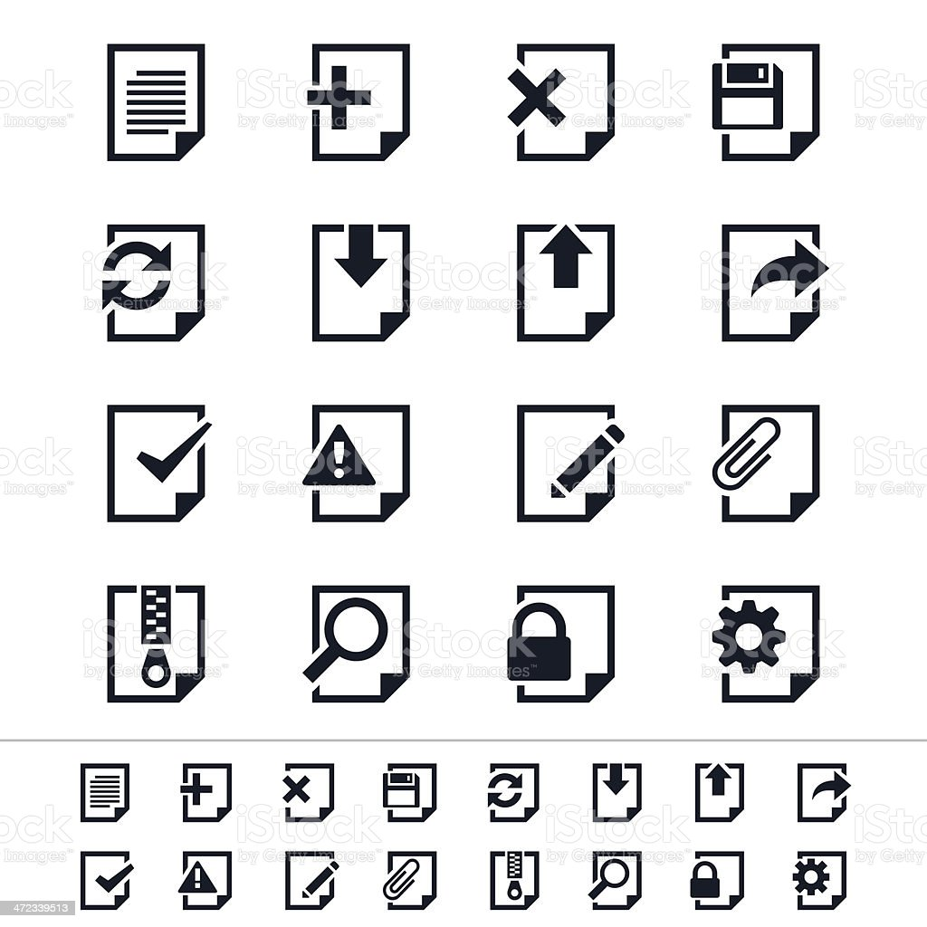 Document icons royalty-free stock vector art