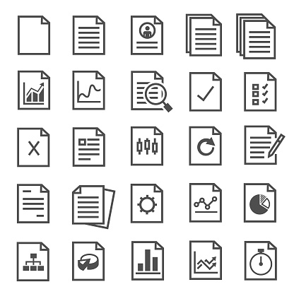 document icons clipart